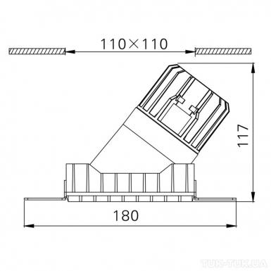 INVISIBLE_SquareAssym, L110mm, W110mm, H117mm, LED 13W, 3000К, белый (01.2311.13.830.WH) фото