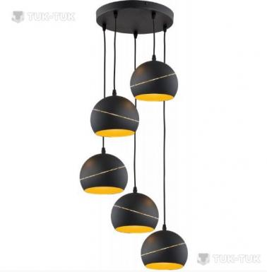 Люстра TK Lighting Yoda Black Orbit х5 фото