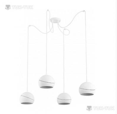 Люстра-підвіс TK Lighting Yoda WHITE Orbit х4 фото